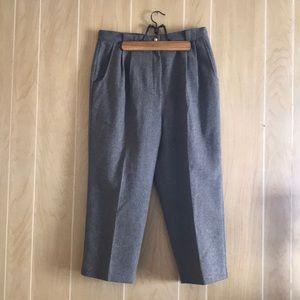 Vintage Savannah 16 Gray 100% Wool Trouser Pants